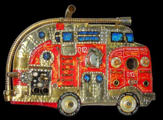 Сретенская пожарная часть, fire truck