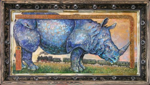 Хлебников 1912, Носорог, А владыками земли быть то носорогу, то человеку