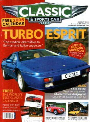 """""""Classic & Sports Car"""" January 2006 - cover"""